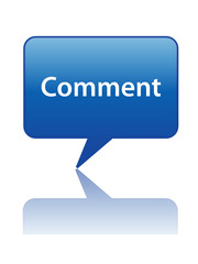 COMMENT Speech Bubble Icon (share forum web button opinion like)