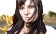 Young beautiful women, close-up portret
