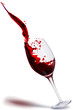 Quadro glass of wine