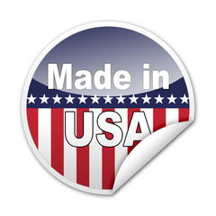 Pegatina MADE IN USA con reborde