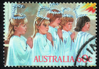 AUSTRALIA - CIRCA 2004: A greeting Christmas stamp