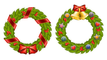Christmas holly wreath