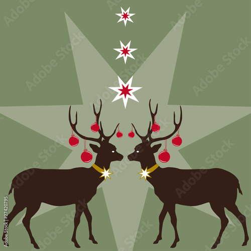 Weihnachtsmotiv Rehe