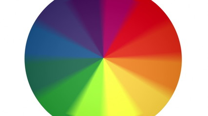Spinning Color Wheel with Looping Section from frames 293 to 359
