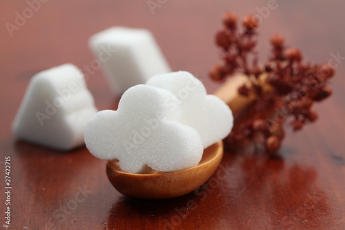 Sugar collection - white card suit cubes