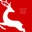 Xmas Card Jumping Reindeer Cropped Red