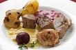 Fondue-Fleisch mit Soßen