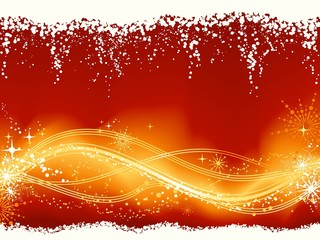 Abstract red golden wavy pattern