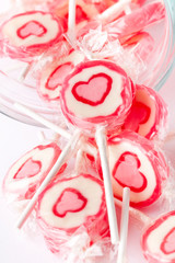 Pink lollipops