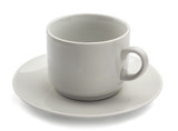 White empty coffee cup