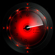 Tachometer isolated on black 3D render