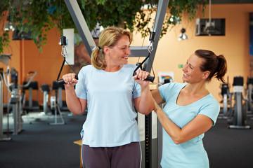 Betreuung im Fitnesscenter