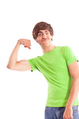 Man showing biceps