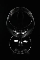 Weinglas von oben