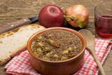 zuppa contadina di lenticchie e patate poster