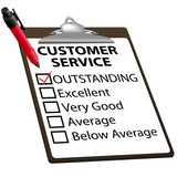 Outstanding CUSTOMER SERVICE evaluation report form poster