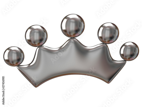 Silver crown icon
