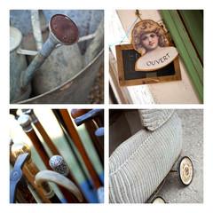 Brocante antiquités curiosités insolite landau canne arrosoir