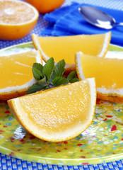 Gelatinas en forma de rebanada de naranja