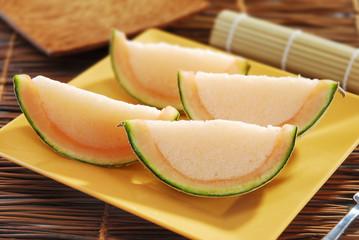 Gelatinas en forma de rebanada de melón