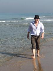 Man enjoying a beautiful seascape