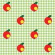 Checked pattern with apple