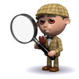 3d Sherlock examines the evidence closely