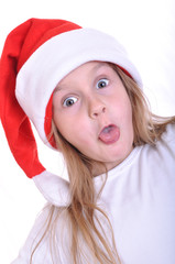 surprised Santa child
