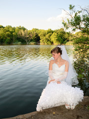 Bride at the lake