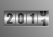 silver 2011 New Year counter