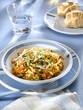 pâtes malloreddus au ragoût de légumes grillés
