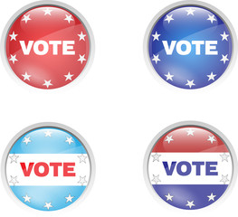 badge vote button pins