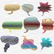 A Set Of Colorful Thought Or Speech Bubbles