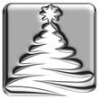 Icône sapin de Noël abstrait chrome