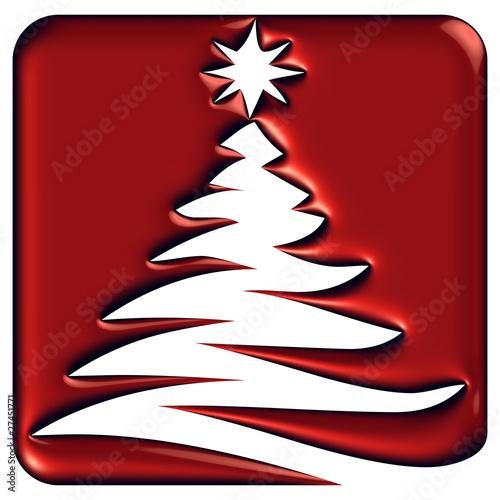 Icône sapin de Noël abstrait rouge reflets