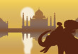 Taj Mahal vector wallpaper