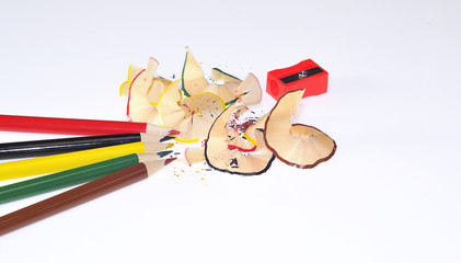 Lapices de colores isolados