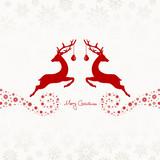 2 Jumping Reindeers, Christmas Ball & Snowflakes