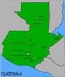 Carte des Villes Principales du Guatemala
