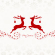 2 Flying Reindeers, Christmas Ball & Snowflakes