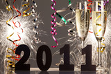 new years eve decoration poster