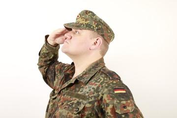 Die Hand zum Flaggengruß