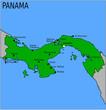 Carte des Villes Principales du Panama