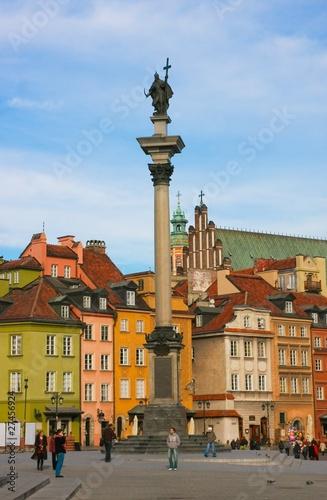 Naklejka Замковая площадь. Варшава