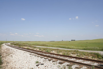 landscape with a railway