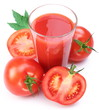 Tomato juice and plants.