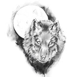 Sketch of tattoo art, wolf - 27461346