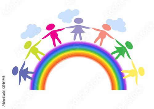 Deurstickers Regenboog Rainbow