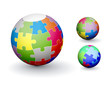 3D colorful sphere design