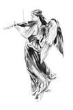 Sketch of tattoo art, angel - 27462778